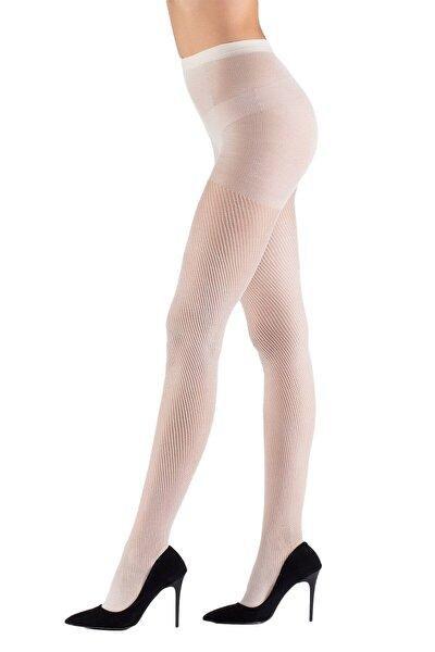 Beyaz File Külotlu Çorap 15 Denye