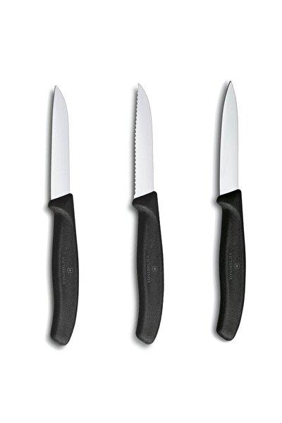 Siyah Meyve Bıçağı Seti 3'lü