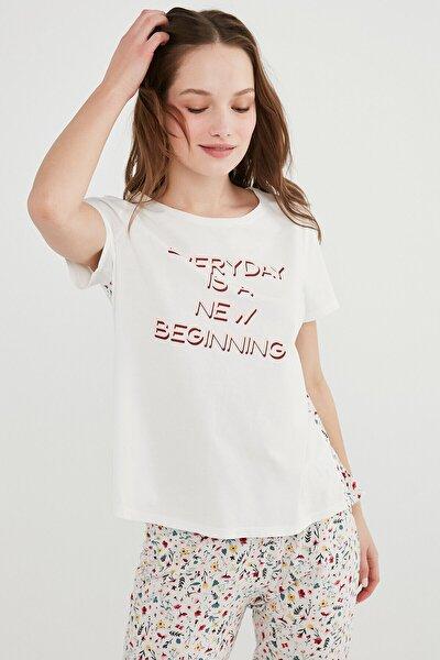 Kadın Beyaz Everyday Tişört
