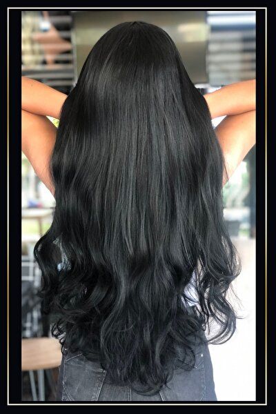 Siyah Fiber (kanekalon) Sentetik Saç Peruk