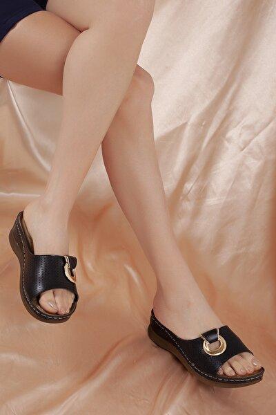 Kadın Günlük Siyah Terlik  Ortopedik  D1890