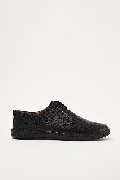 Hakiki Deri Siyah Erkek   Klasik Ayakkabı 02AYY207680A100