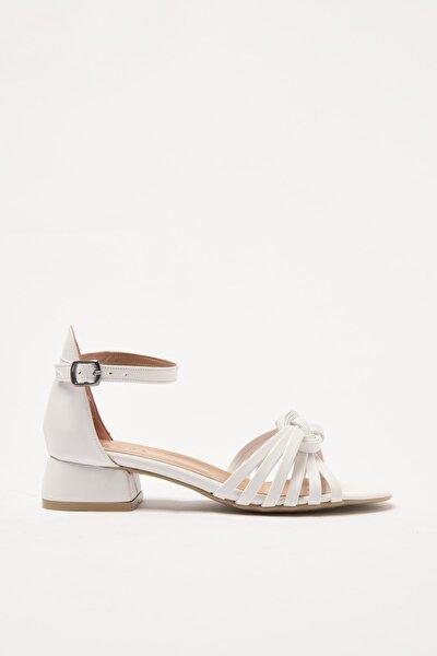 Beyaz Kadın Sandalet 01SAY212100A900