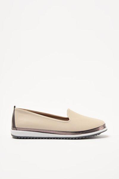 Bej Kadın Loafer Ayakkabı 01AYY208950A310