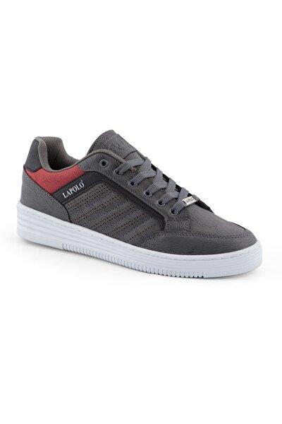 Erkek Füme Renk Beyaz Dikişli Taban Spor Ayakkabı 06