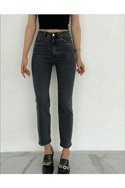 Kadın Full Likrali Boru Paça Jeans