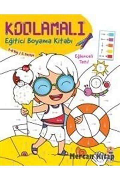 Kodlamalı Eğitici Boyama Kitabı Eğlenceli Tatil 5  6 Yaş 2. Seviye