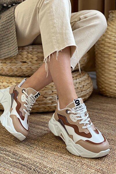 Kadın Taba Beyaz Sneaker