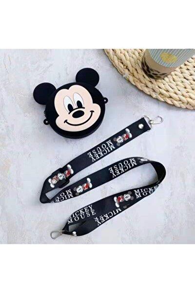 Kız Çocuk Siyah Mickey Mouse Bozuk Para Cüzdanı