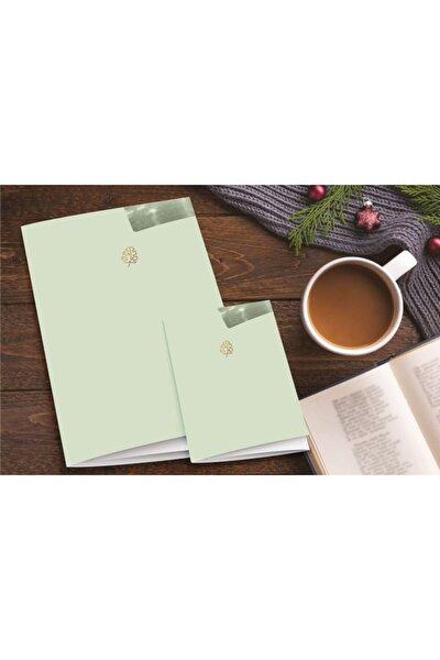 2'li Defter Seti Çizgili Defter Pastel Notebook Yeşil