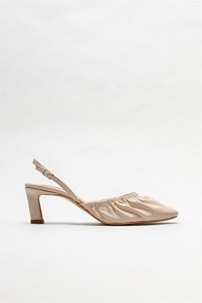 Bej Kadın Topuklu Ayakkabı