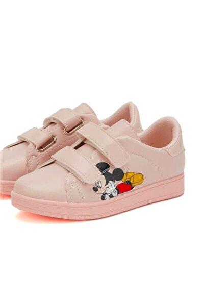 Çocuk Pudra Sneaker Hafif Rahat Taban Günlük Çırtlı Spor Ayakkabı