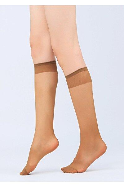Burnu Takviyeli Mat Dizaltı Çorap Renk Seçenekli 004