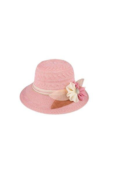 Kadın Merserize Hasır Şapka Pembe (T2740-18pembe)