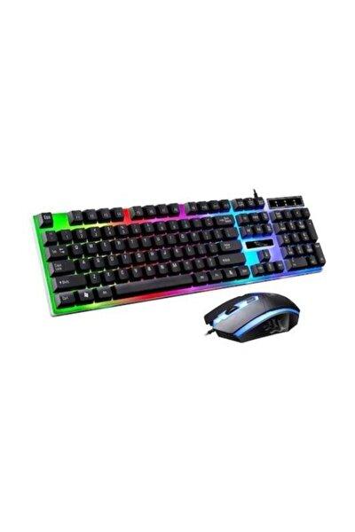 Işıklı Klavye,oyuncu Klavye Mouse Set 7 Farklı Led Renkli Klavye