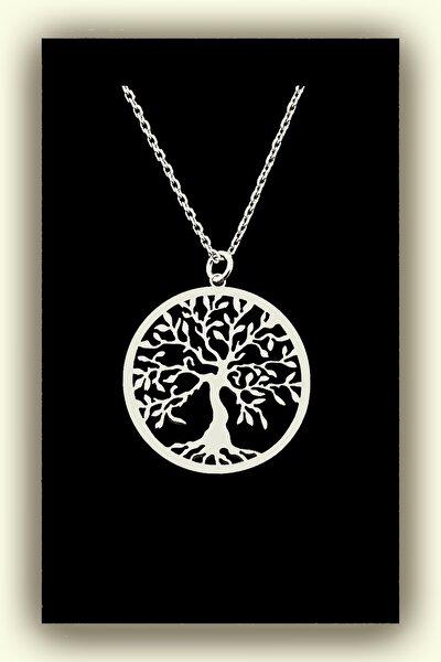 Hayat Ağacı Kadın Gümüş Kolye