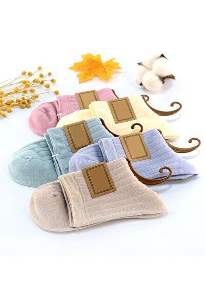 Unisex Düz Renkli Çorap 5'li