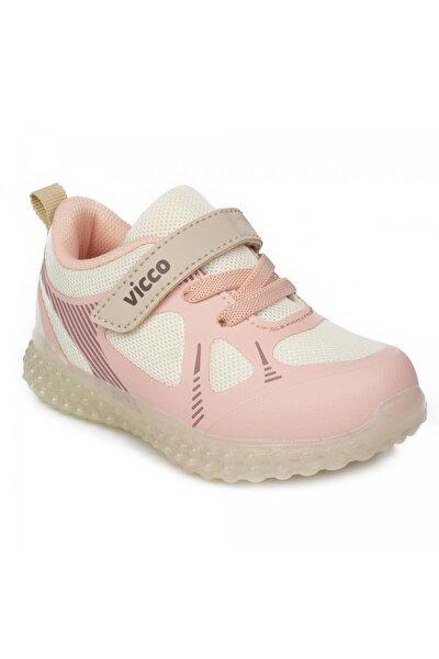 313.p21y105 Figo Patik Işıklı Bej Çocuk Spor Ayakkabı