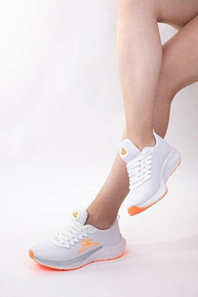 Unisex Memory Tabanlı Günlük Spor Ayakkabı Sneaker Siyah & Beyaz & Yeşil & Turuncu