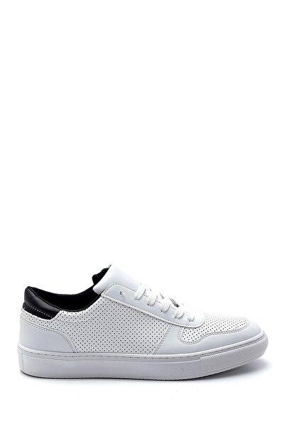 Erkek Beyaz Siyah Günlük Sneaker Ayakkabı