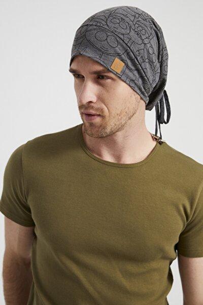 Erkek Füme Ip Detaylı Desenli Özel Tasarım 4 Mevsim Şapka Bere Buff -ultra Yumuşak Doğal Penye