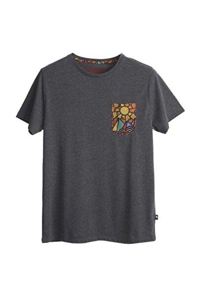 Erkek  Antrasit T-shirt