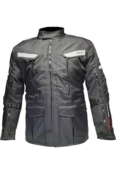 Unisex Siyah Cep Detay Motosiklet Montu