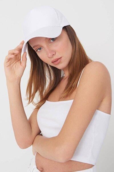 Kadın Beyaz Unisex Şapka ŞPK1007 ADX-0000022027