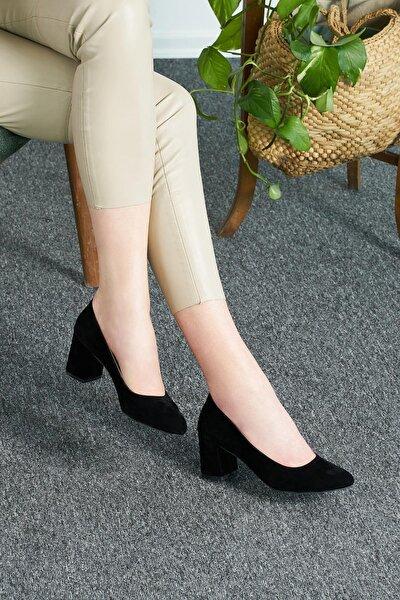 Süet Kadın Topuklu TS1068
