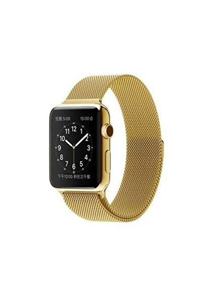 Apple Watch Seri 6 44 Mm Çelik Kayış Hasır Örme Kordon Milano
