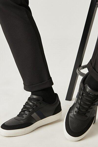 Erkek Siyah Casual Spor Sneaker Ayakkabı