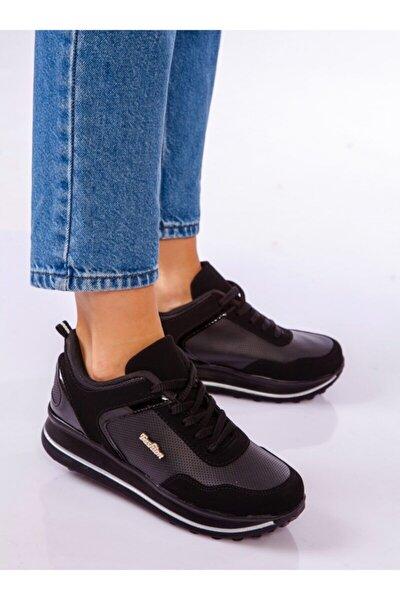 Kadın Siyah Süet Sneaker