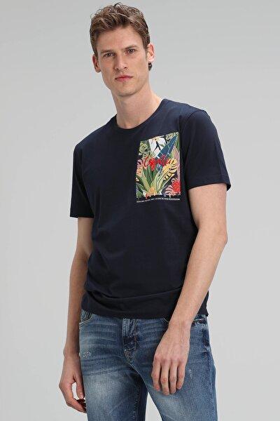 Monato Modern Grafik T- Shirt Lacivert