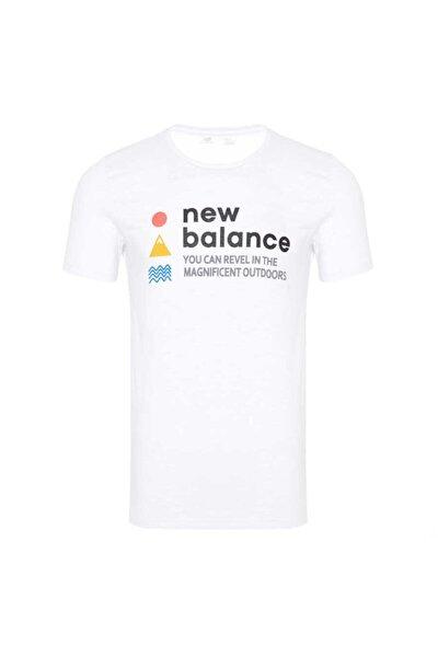 Erkek Beyaz Baskılı Spor T-Shirt