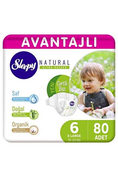 Natural Avantajlı Bebek Bezi 6 Numara Xlarge 80 Adet