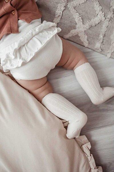 Diz Altı Çorap - Organk Pamuk - Krem