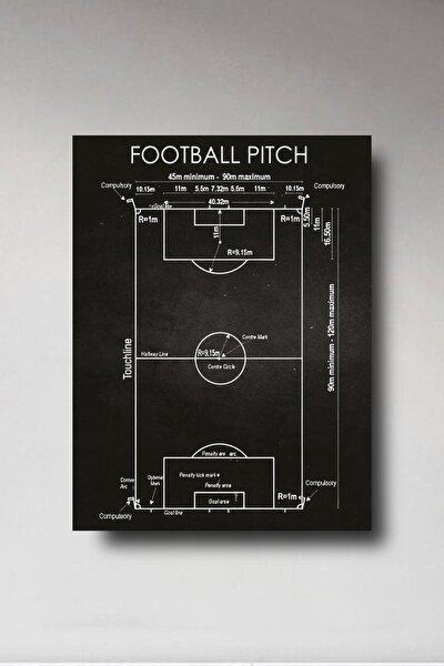 Ahşap Tablo - Futbol Sahası 8mm