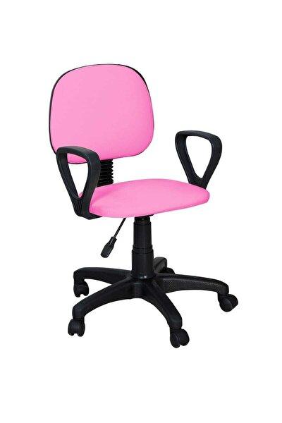 Cgn Kollu Çalışma Sandalyesi Ofis Sandalyesi Öğrenci Koltuğu Ofis Ve Büro Sandalyesi- Pembe