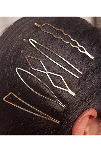 Beşli Altın Saç Tokası