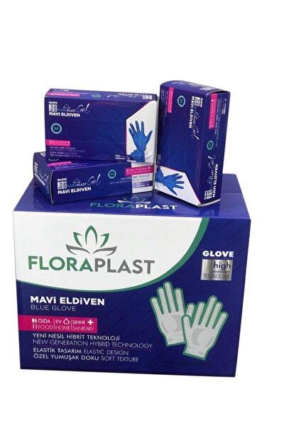 Glove L Beden Tpe/pe Pudrasız Tek Kullanımlık Mavi Elastik Eldiven 100 Adet
