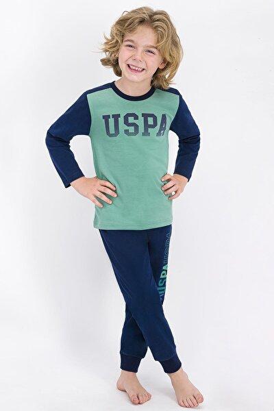 Erkek Çocuk Yeşil U.s. Polo Assn Lisanslı Pijama Takımı