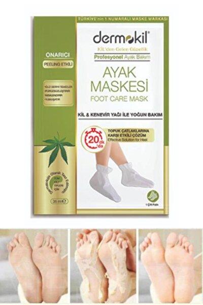Doğal Kil Ve Kenevir Içerikli Foot Peeling Pack Çorap Tipi Ayak Peeling Maskesi Topuk Çatlak Maskesi