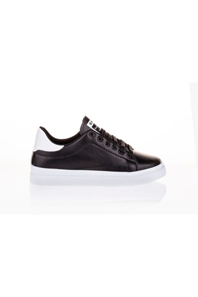 Kadın Siyah Beyaz Sneaker Ayakkabı