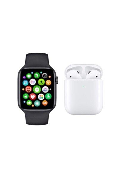W26 Smart Watch 6 Akıllı Saat + Airpods I12 Kablosuz Kulaklık