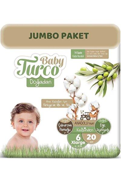 Bebek Bezi Doğadan Beden:6 (16+kg) XL 20 Adet Jumbo