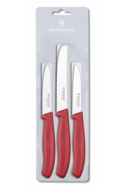 Swiss Classic Kırmızı 3 Parça Soyma Bıçak Seti 6.7111.3