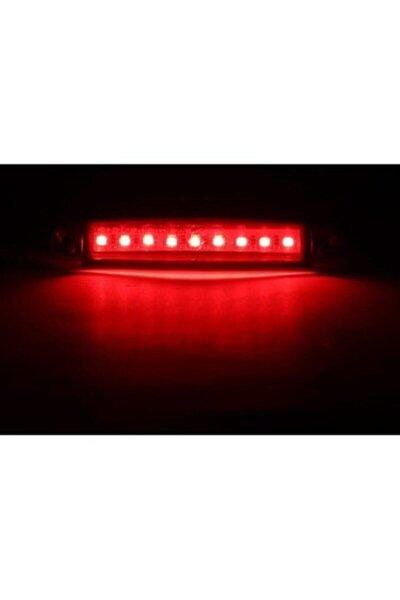 10 Adet 9 Ledli Parmak Led Dorse Lamba 12v-24v Kırmızı Renk