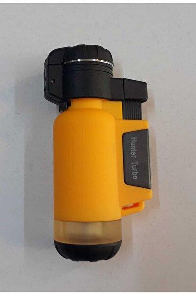 Turbo Tek Pürmüz Alev Pro Çakmağı Sarı