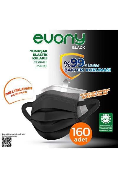 Siyah Elastik Kulaklı Maske 160 Adet