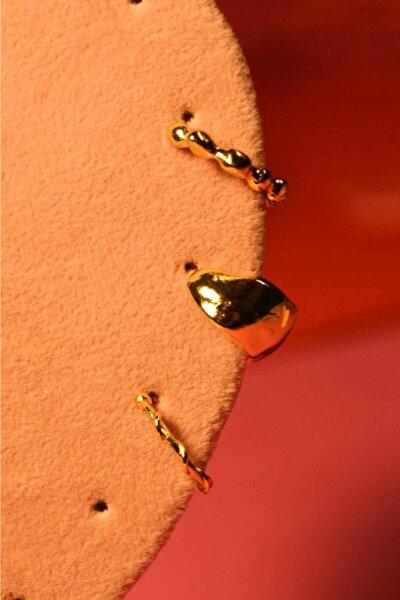 3'lü Altın Kaplama Kıkırdak Set - Sıkıştırma Set - Ear Cuff